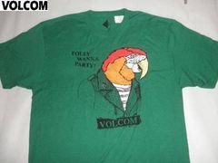 USA購入ボルコム【VOLCOM】オウムスーツ姿プリントT US XL GREEN