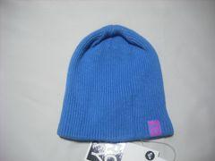 wb716 ROXY ロキシー ニット帽 ビーニー 青