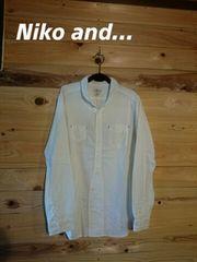 《Niko and…》即決♪大きいサイズ/チビ襟シャツ☆メチャカワ