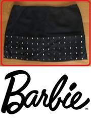 古着バービーキラキラ石付きミニスカート黒Mサイズ