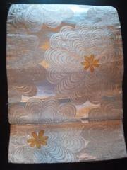 銀箔☆大輪レトロナゴヤ正絹未使用品レタパP