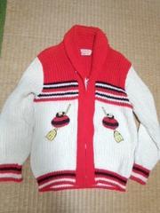 カーリング柄 セーター