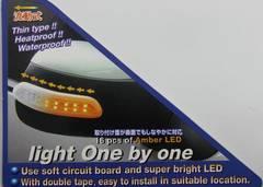 汎用LEDドアミラーウインカーtype5 サイドマーカー ウインカー