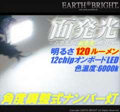 2球)♭△T10面発光 角度調整式ナンバー灯 クラウン セルシオ マークX ハリアー