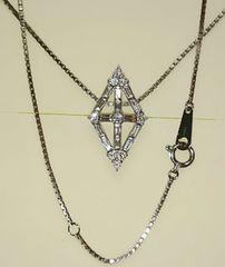 美品 Pt900 上質天然ダイヤモンドネックレス