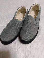 新品 サイズS グレーぺったんこ靴 レターパック510