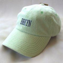 帽子♪BRKNY 刺繍パイル ローキャップ ミント
