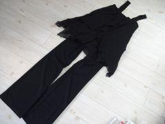 未使用/フォーマル パンツスーツ 黒/