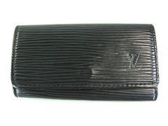 美品ルイヴィトン エピ レザー 4連 キーケース 黒系