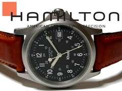 美品 正規★ハミルトン HAMILTON KHAKI 黒文字盤 腕時計