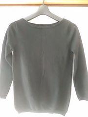 黒 七分袖セーター 定形外250