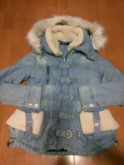 ◆BACKS ◆モコモコデニムジャケットコート◆