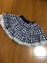 美品 青×白  スカート 100