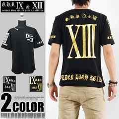 メール便送料無料【G.H.R NINE&THIRTEEN】70726Tシャツ黒金M