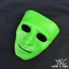 ヒップホップ ダンスマスク MASK お面 グリーン 緑 DANCE B系360
