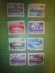 ルーマニア船切手8種類♪