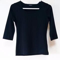 PAGEBOYページボーイ 黒ブラック 七分袖Tシャツ Mサイズポリエステル100%