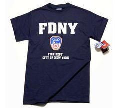 ニューヨーク市消防局・オフィシャルTシャツ・紺M・新品