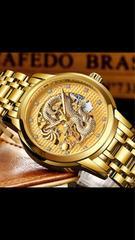 ゴールドドラゴン腕時計メンズ