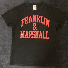 franklin&marshall フランクリンマーシャル Tシャツ 黒 夏服 赤
