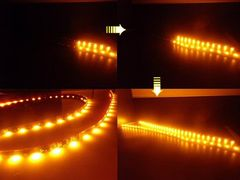 ウィンカーに!/光が流れる流星LEDテープライト/60cm2本/アンバー