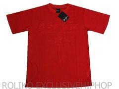 【L】Seanjohnショーンジョン刺しゅう赤TシャツB系