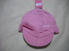 wb149 女 BILLABONG ビラボン つば付き ニット帽 ピンク