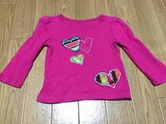babyGap 可愛いハート刺繍ロンT 80 ピンク