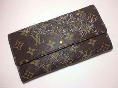 Louis Vuitton モノグラム 二つ折り 長財布 刺繍