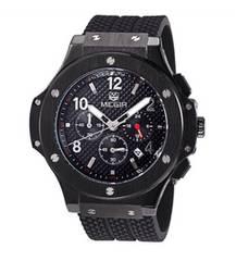megir メンズ  ブラックインポート 腕時計 新品未使用