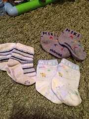 ミキハウス、コムサ、ベビー用靴下セットuesd