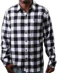 即決★SALE★SouthPoleサウスポールチェックネルシャツ★ブラック×ホワイト★Lサイズ