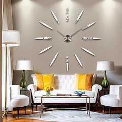 ウォールクロック 掛け時計 DIY 北欧スタイル シルバー