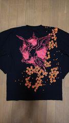セール 新品 [ CROSS KEYS ]不死鳥 プリント 長袖Tシャツ スカジャン好きにも
