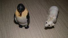 ミニフィギュア 白熊&ペンギン 送料込み