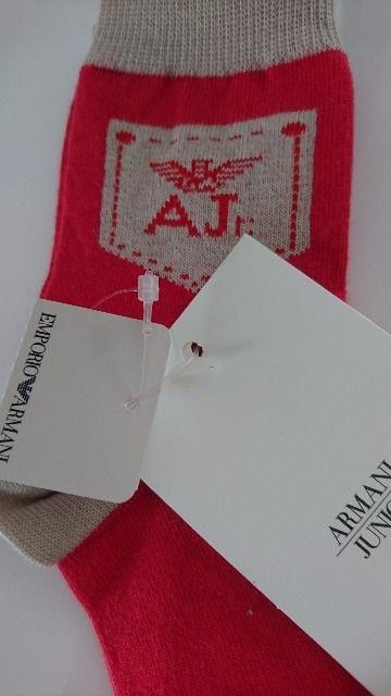ARMANI JUNIOR アルマーニ未使用タグ付きキッズ靴下 < ブランドの