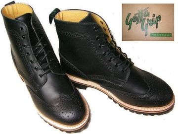 ゲッタグリップ ウィングチップ ブーツ8510BLカジュアルuk7