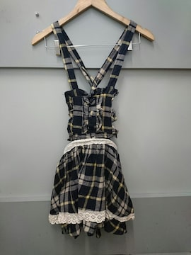 Ank Rouge☆チェック柄サロペットスカート