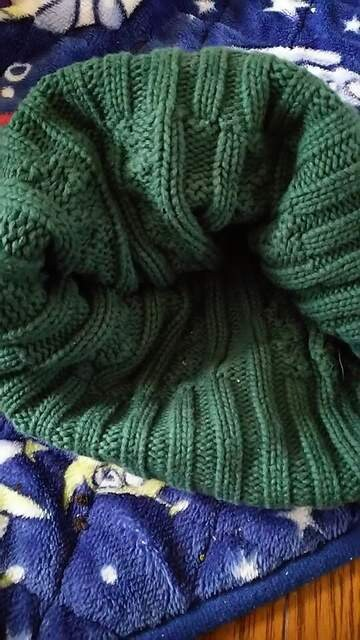 グリーン★シンプルニット帽 < 女性ファッションの