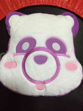 AAA え〜パンダ ふさふさフェイスクッション『宇野実彩子』紫