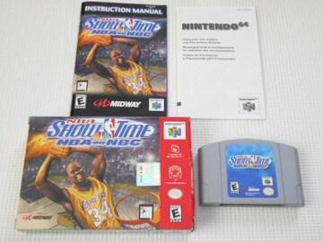 N64★NBA SHOW TIME NBA ON NBC 海外版(国内本体動作不可)