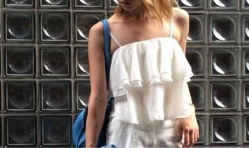 人気完売★リップサービス★フリルティアードキャミ ホワイト/F 新品タグ付 未開封