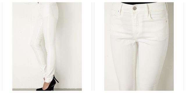 新品  AZUL BY MOUSSY A Perfect スキニーデニム ホワイト XS < ブランドの
