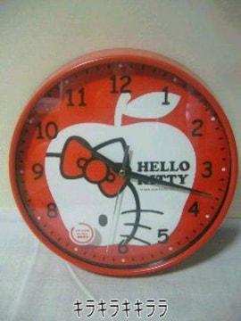 キティちゃん壁掛け時計(静かな連続秒針)