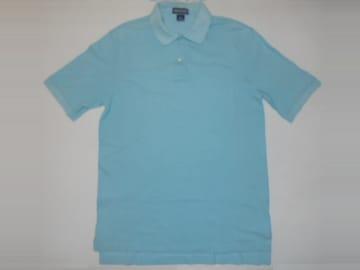 LANDS'END ランズエンド ポロシャツ 半袖綿100%無地鹿の子USA製M