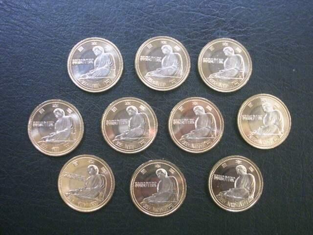 ★地方自治60周年500円貨(神奈川県) 10枚★ < ホビーの
