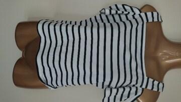 ボーダーオフショルL半袖Tシャツ