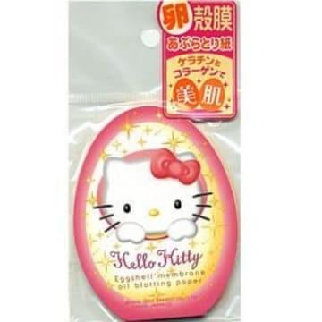 【キティ】可愛いケラチンとコラーゲンで美肌♪卵殻膜あぶらとり紙