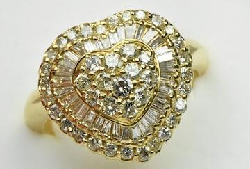 【鑑別】ゴージャス K18 1.16ct ダイヤモンドリング 12.5号