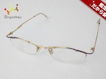 カザール メガネ MOD.405 クリア×ゴールド×ブルー プラスチック×金属素材
